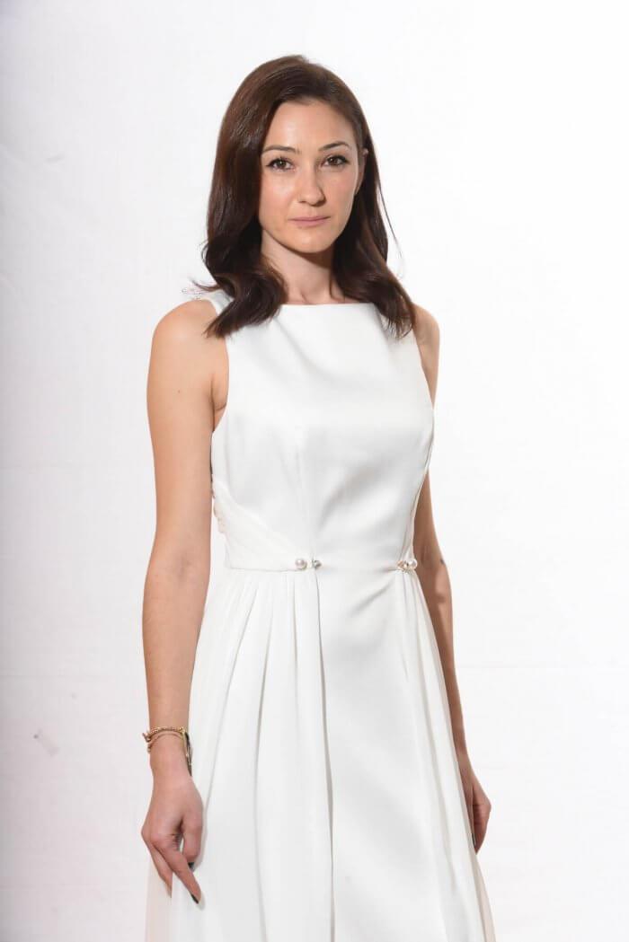 Λευκό μάξι φόρεμα τουαλέτα