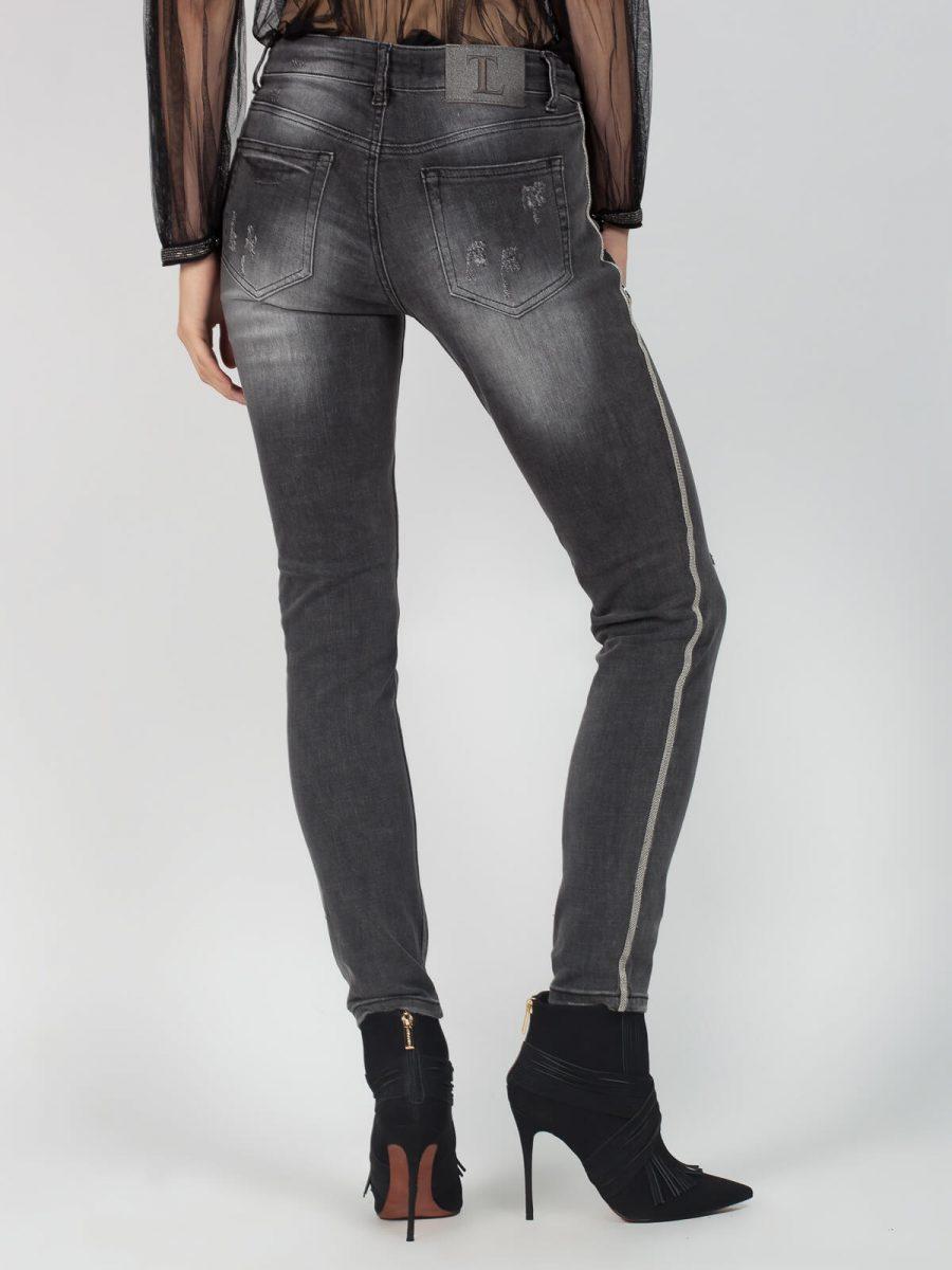 Παντελόνι jean skinny σε γκρι χρώμα